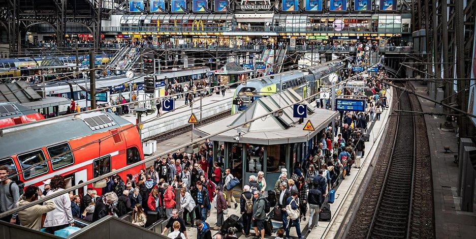 Gedränge Hauptbahnhof