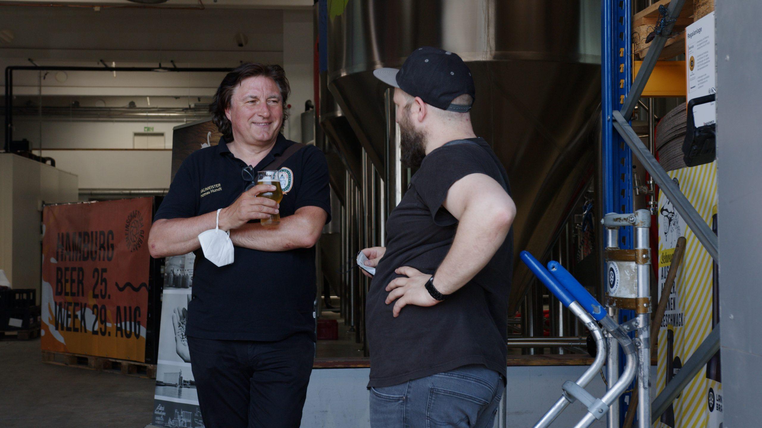 Beim Treffen der Braumeister in Altona wurde ein gemeinsames Bier gebraut.