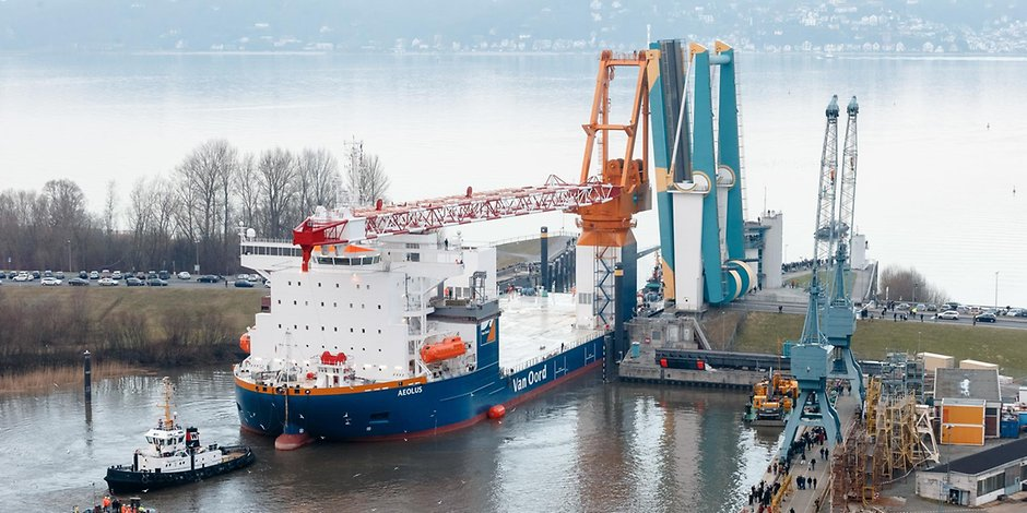 Die Hamburger Pella Sietas Werft in Neuenfelde (Archivbild).
