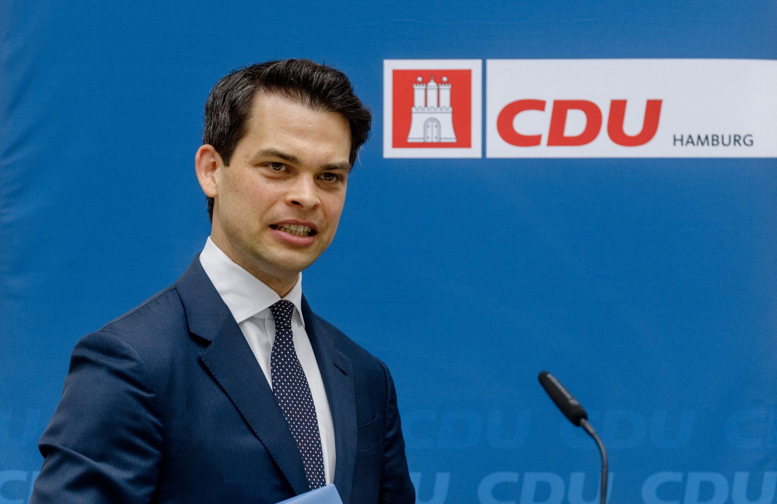 Christoph Ploß, Hamburger CDU-Vorsitzender, sieht seine Partei derzeit in der Offensive.