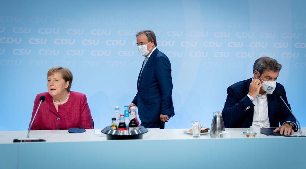 Merkel, Laschet, Söder