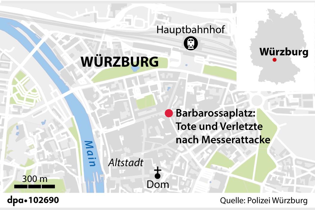Messerattacke Würzburg Grafik