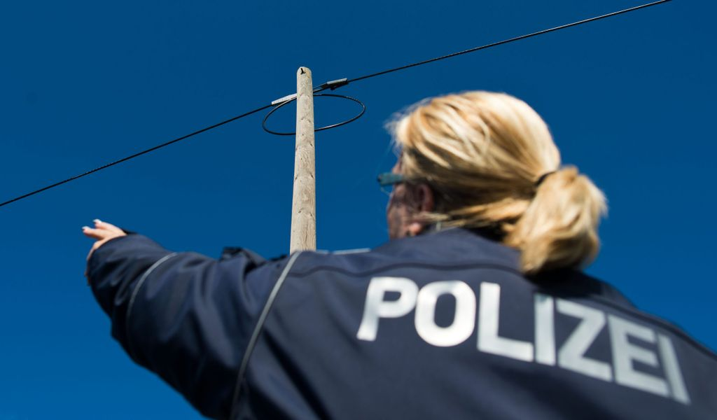 Bundespolizisten stellten die Kabeldiebe