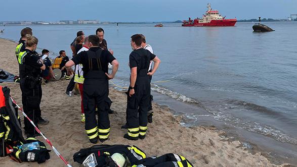 Schwimmer in Elbe vermisst