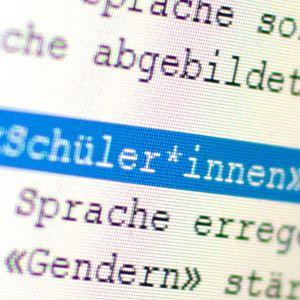 """Geschlechtergerechte Sprache mit dem """"Gendersternchen"""" (Symbolbild)."""