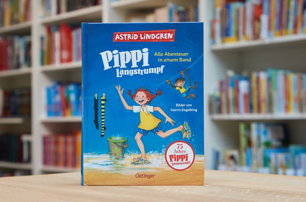 """Der Bestseller """"Pippi Langstrumpf"""" von Astrid Lindgren erschienen im Oetinger Verlag."""