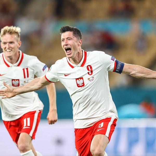 Robert Lewandowski hielt mit seinem Tor gegen Spanien die polnischen EM-Hoffnungen aufrecht