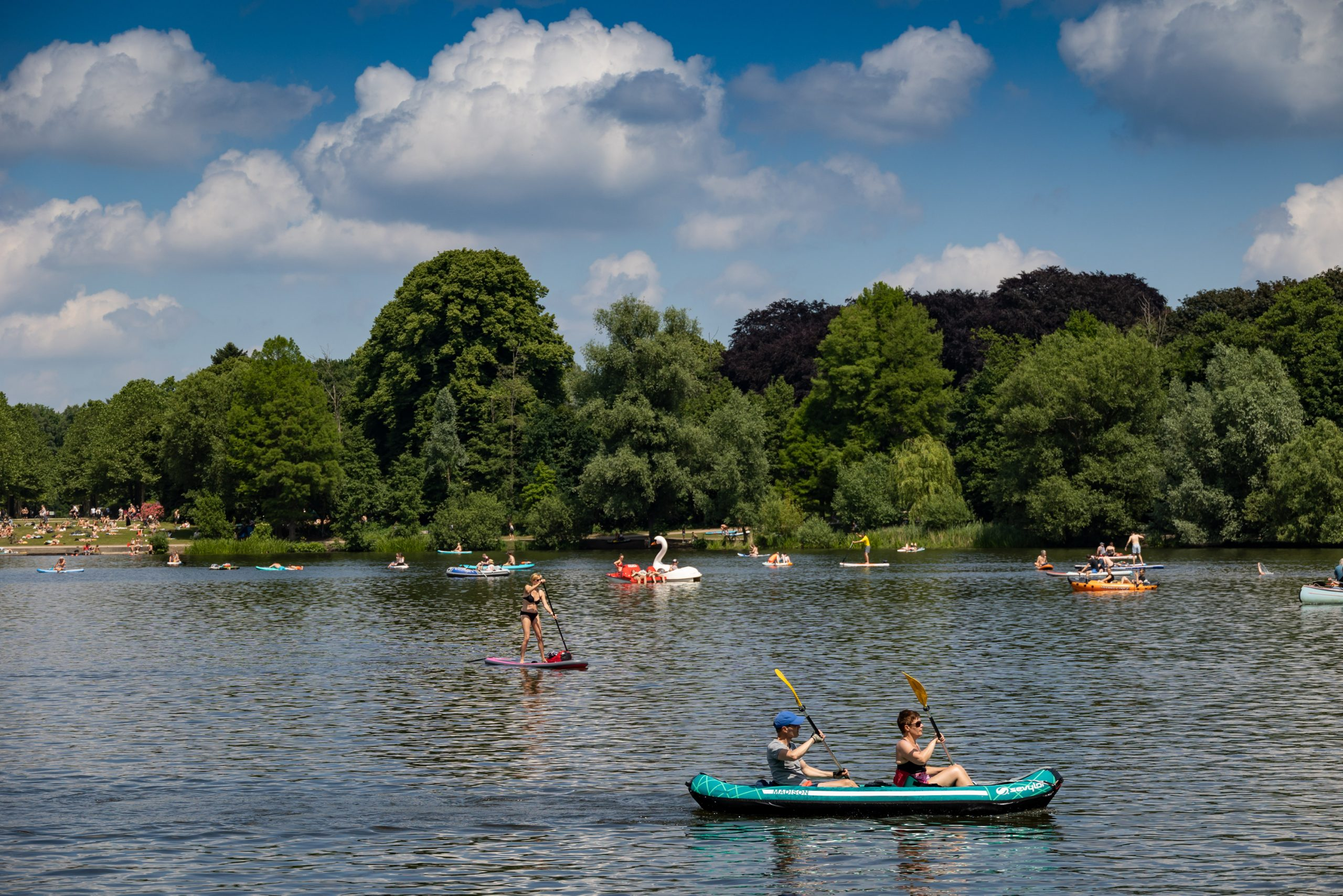 Sommer-Wetter Stadtpark