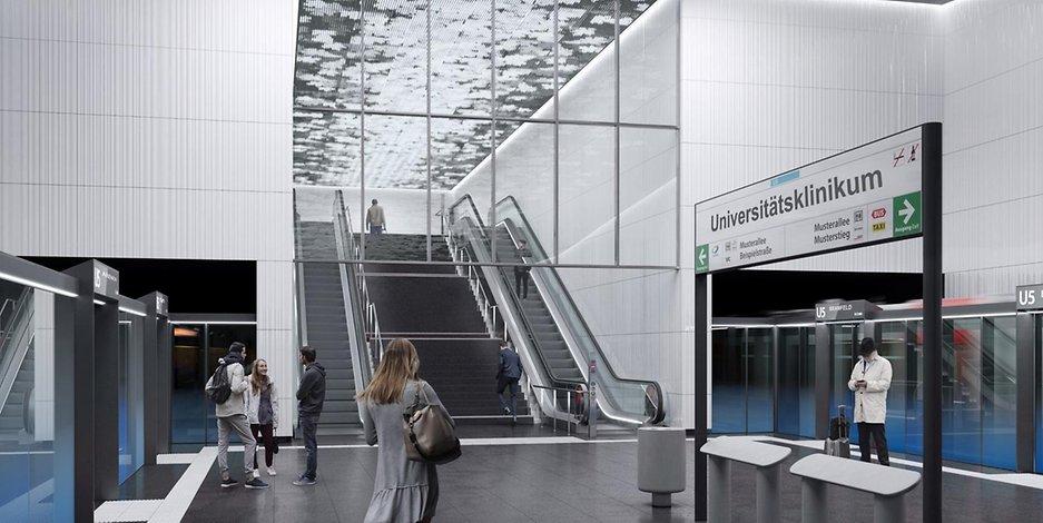 Durch die Anbindung ans UKE wird die Fahrgastzahl der U5 sich noch einmal deutlich erhöhen.