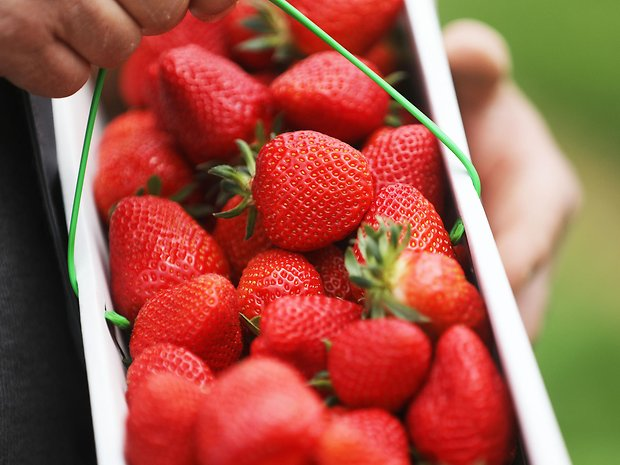 Erdbeeren in Korb