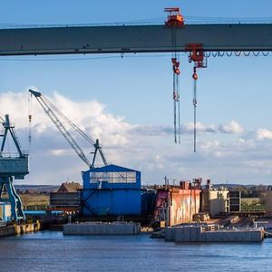Die Pella Sietas Werft in Hamburg-Neuenfelde.