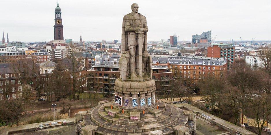 Hamburg: Umgestaltung des Bismarck-Denkmals wird diskutiert