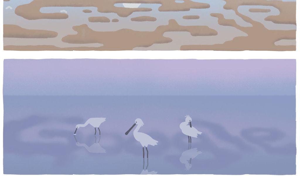 Google Doodle in Wattenmeer-Optik