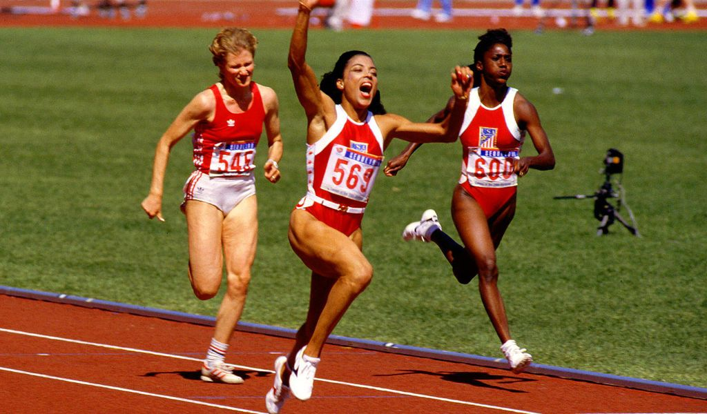 Florence Griffith-Joyner bei Olympia 1988 in Seoul