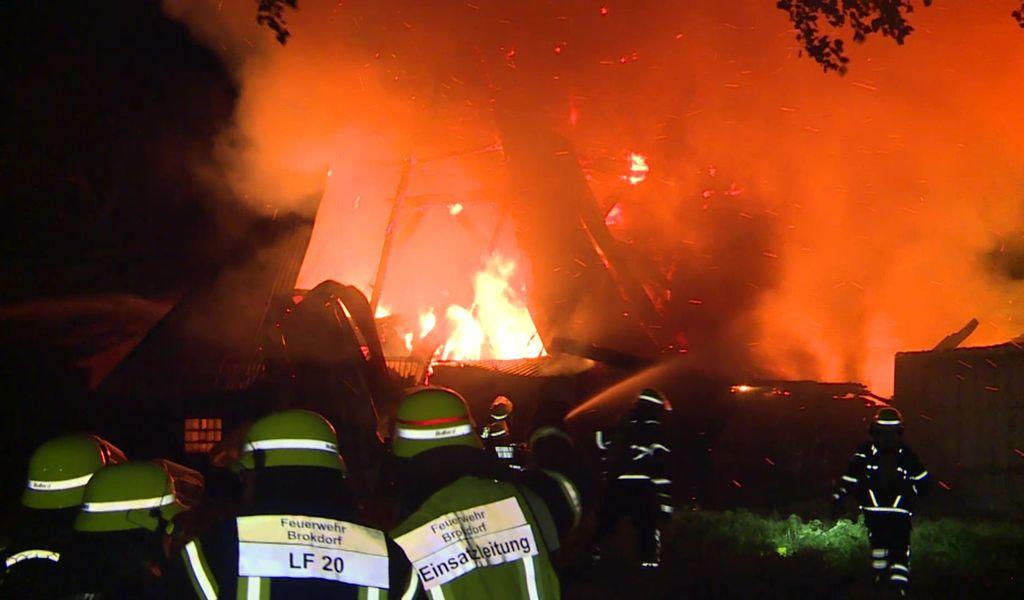 Bei Hamburg: Das Haupthaus und einige Nebengebäude brannten komplett nieder.