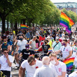 Mehr als 10.000 Teilnehmer werden auf der diesjährigen CSD-Fahrraddemo von Pride Hamburg erwartet.