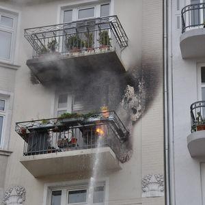 Feuer auf Balkon in Eppendorf