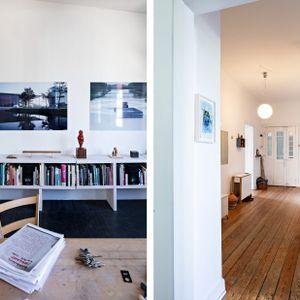 """Ein Werk der Ausstellung """"eine ART Gast"""" in drei verschiedenen Ausstellungsorten"""