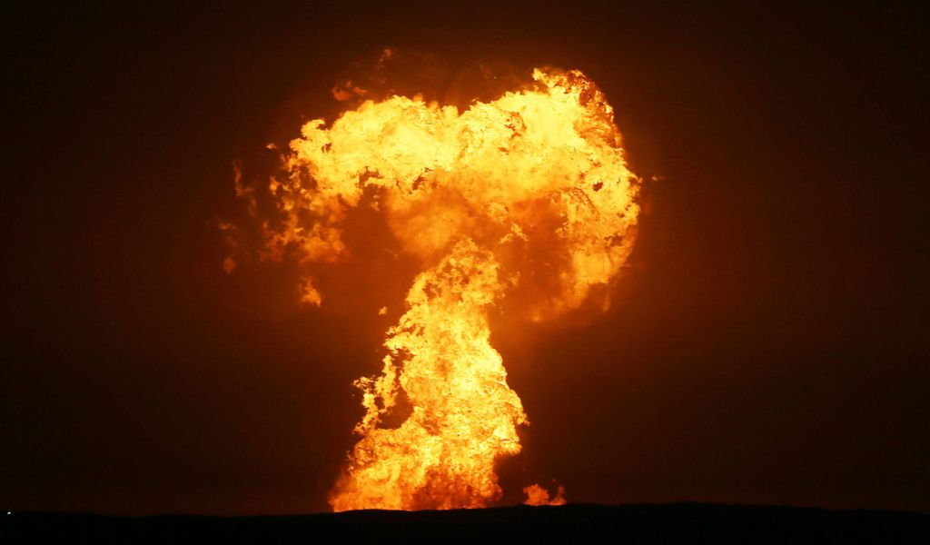Explosion nahe Erdgasfeld