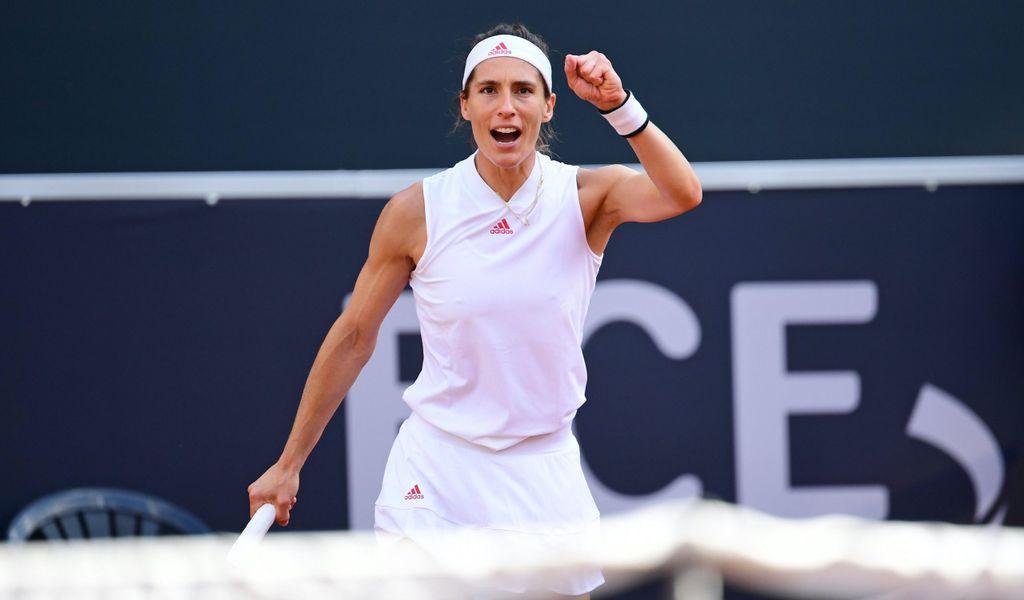 Andrea Petkovic freut sich über ihren Auftaktsieg