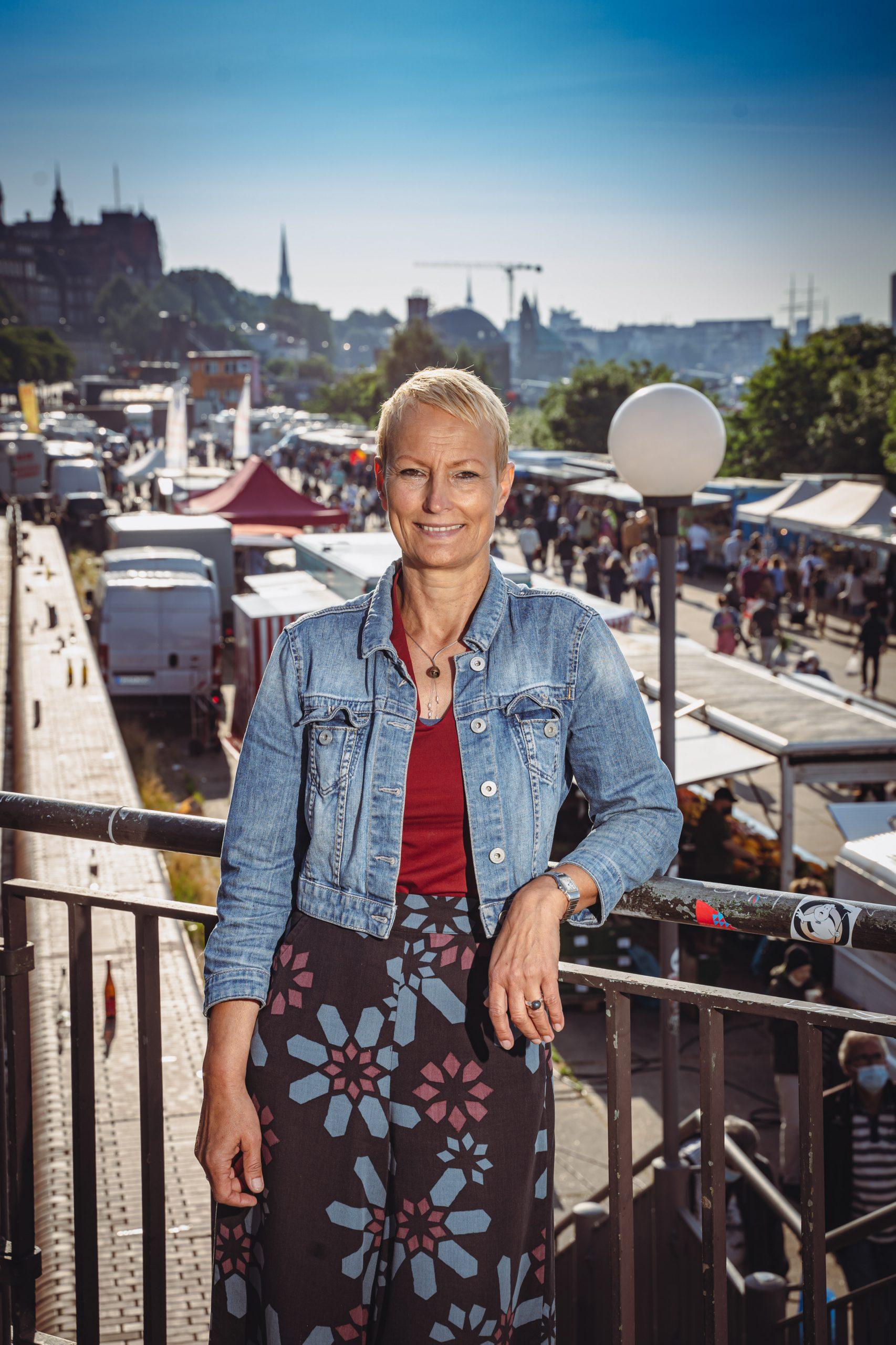 Stefanie von Berg auf dem Fischmarkt