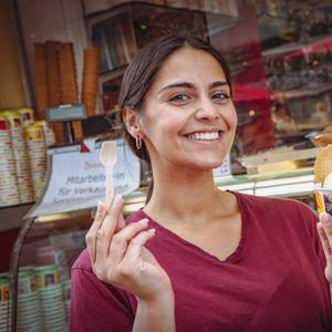 Holzlöffel im Eiscafé Venezia