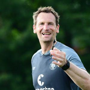 St. Paulis Torwarttrainer Mathias Hain war am Mittwoch im Kasten gefordert (Archivbild).