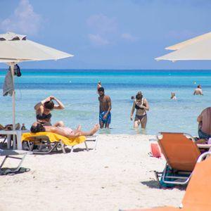 Touristen am berühmten Balos Beach auf Kreta (Archivbild)