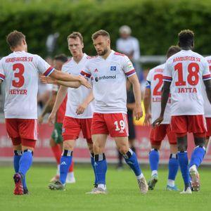 Dank Manuel Wintzheimer hatte der HSV im Testspiel gegen Augsburg einigen Grund zum Jubeln.