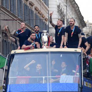 Italienische Nationalmannschaft feiert EM-Sieg