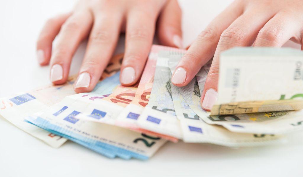 Geldscheine Hand Symbol