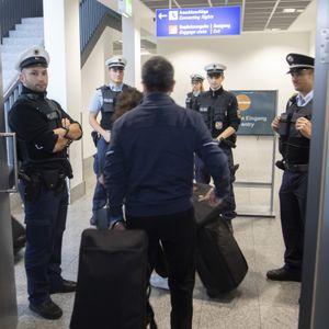 Einreisekontrolle am Flughafen