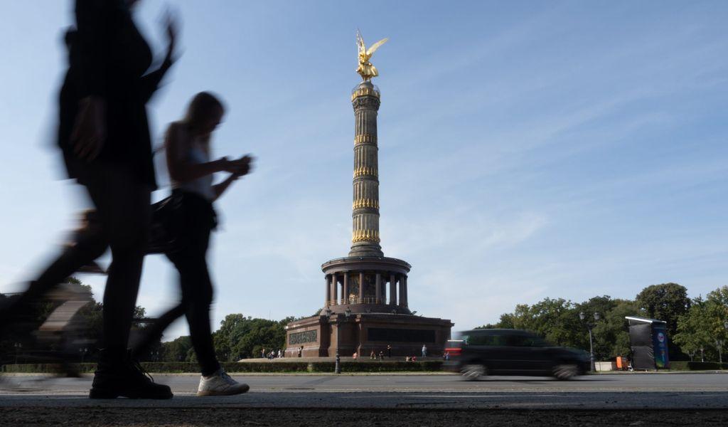 Berliner Siegessäule: Wann die Kupferdiebe zugeschlagen haben, ist unklar.