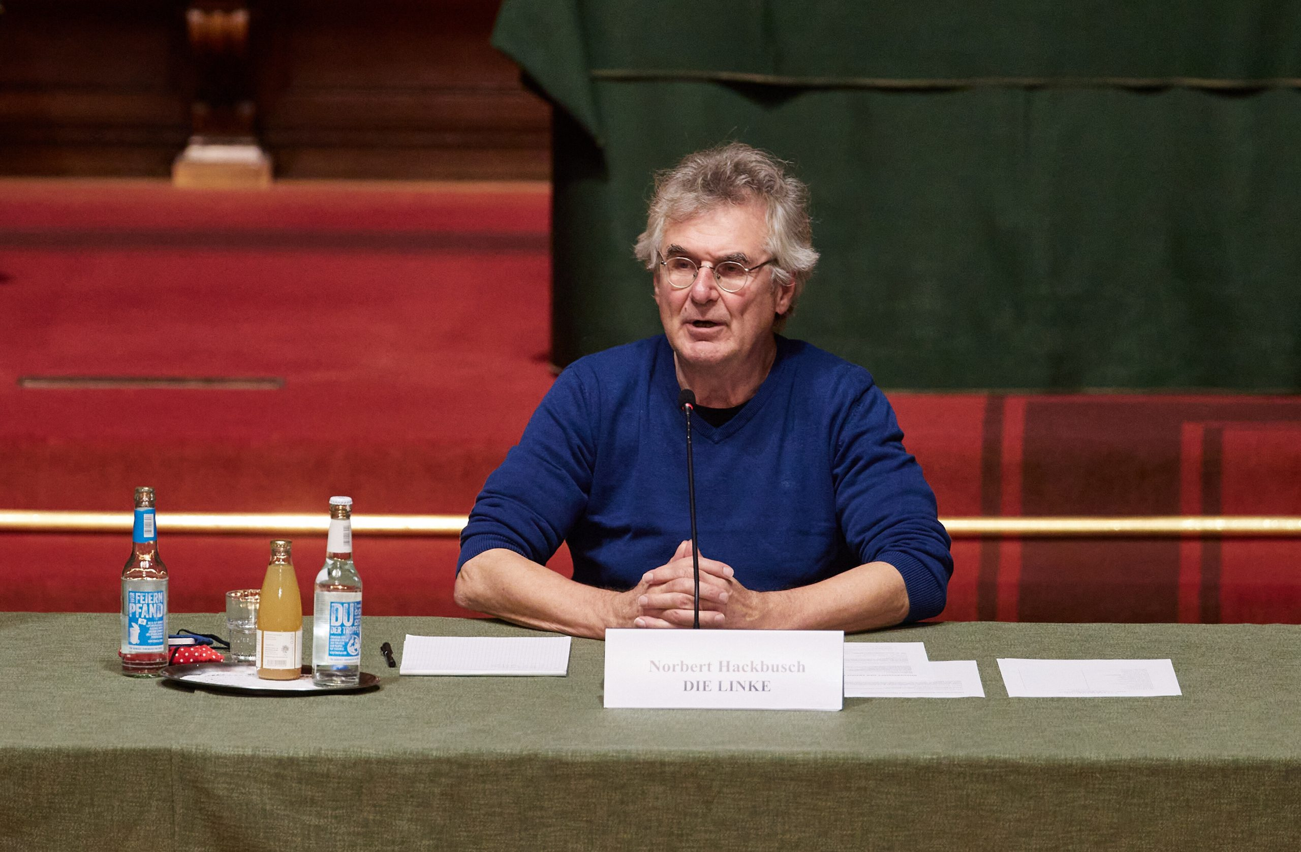 Norbert Hackbusch (Linke) Obmann im Parlamentarischen Untersuchungsausschuss zum Cum-Ex-Skandal (Archivbild).
