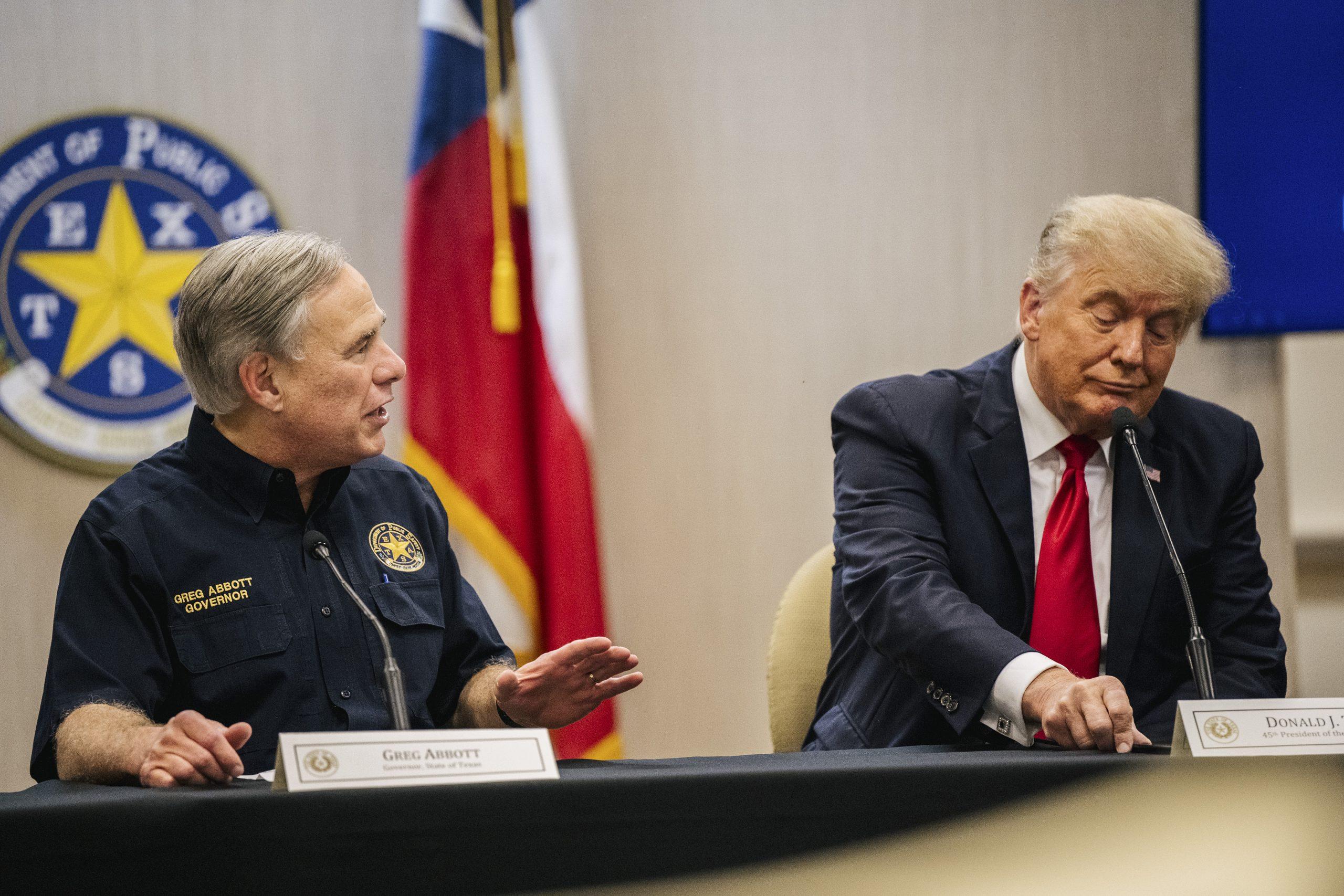 Texas-Gouverneur Greg Abbott ist ein guter Freund von Ex-Präsident Donald Trump.