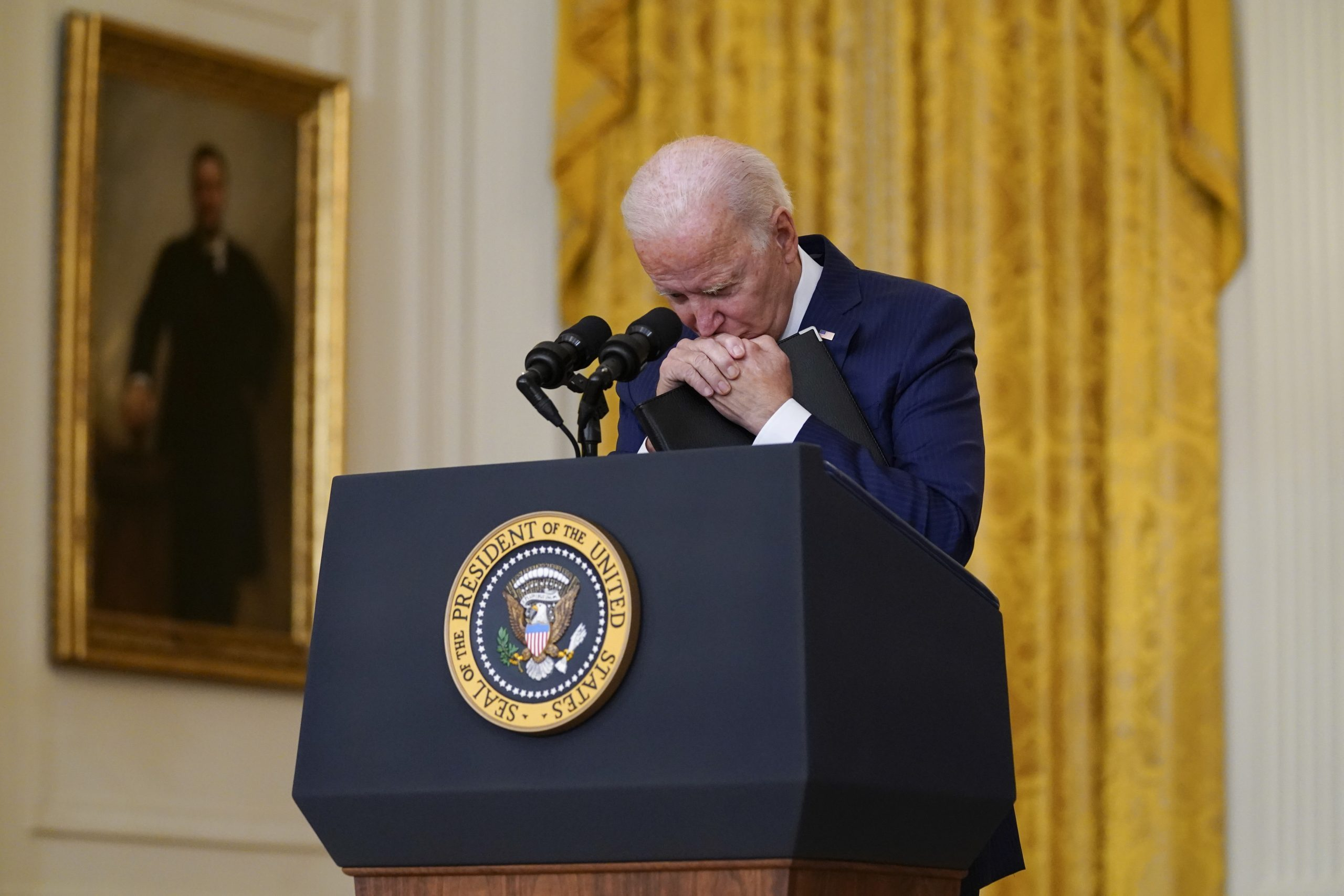 US-Präsident Joe Biden während seiner Ansprache nach dem Terroranschlag am Kabuler Flughafen.
