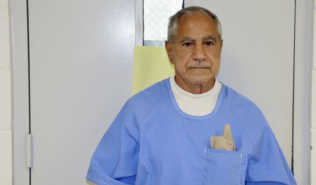 Auf diesem Bild, das von der kalifornischen Strafvollzugsbehörde zur Verfügung gestellt wurde, erscheint Sirhan Sirhan in San Diego zu einer Bewährungsanhörung.