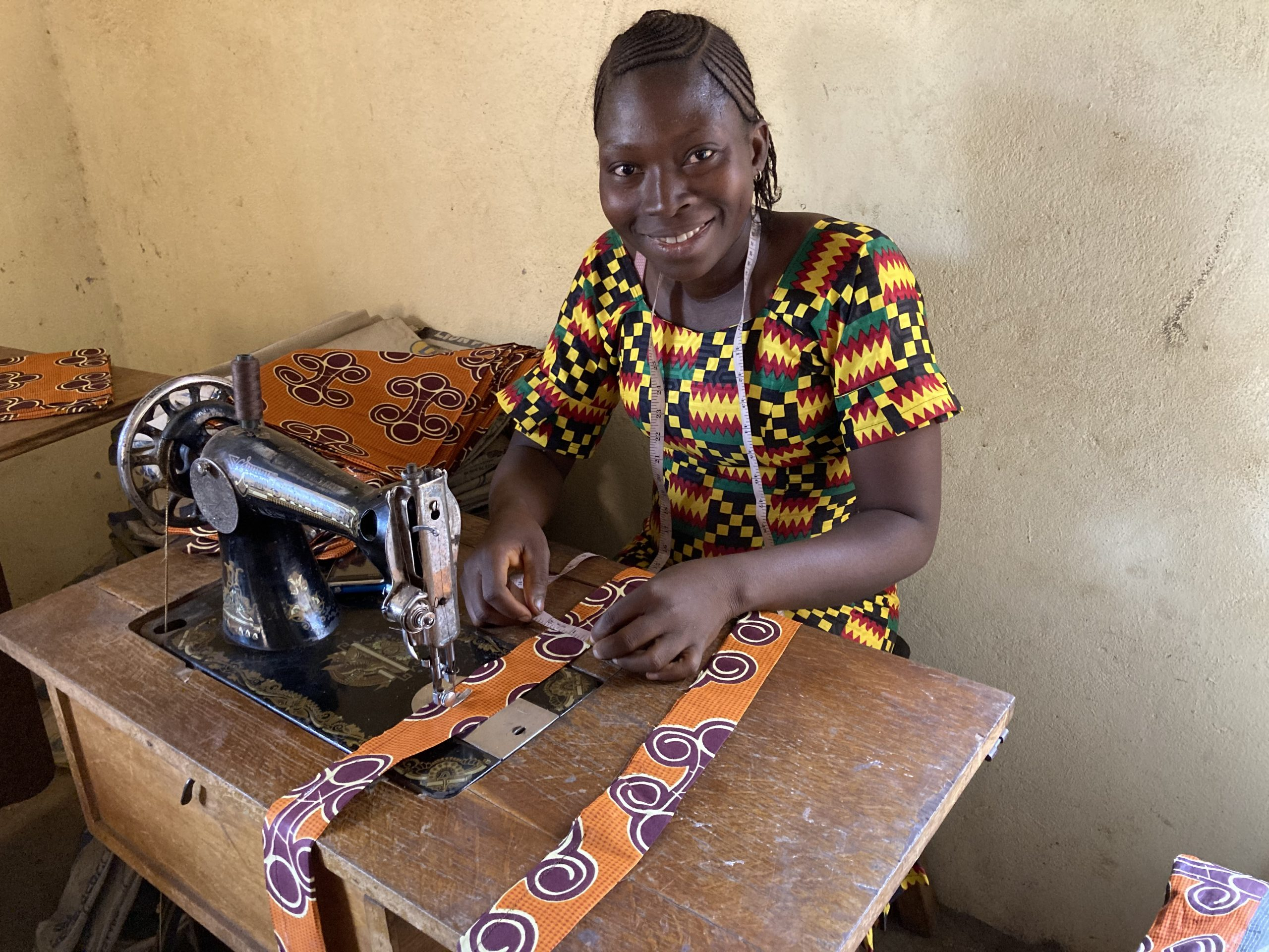 Näherin in Sierra Leone
