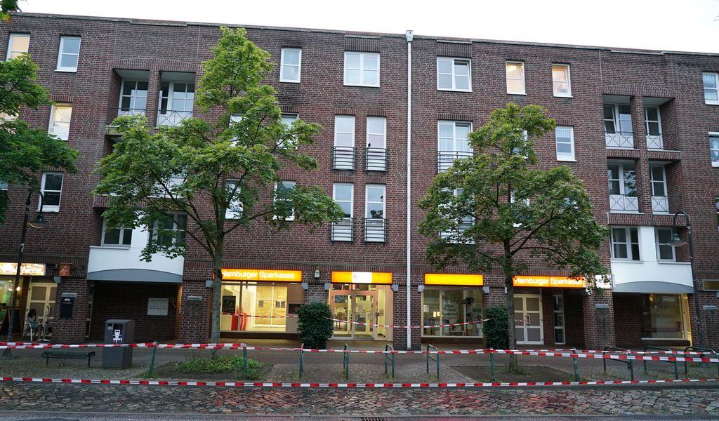 Die betroffene Haspa-Filiale in Norderstedt bei Hamburg.