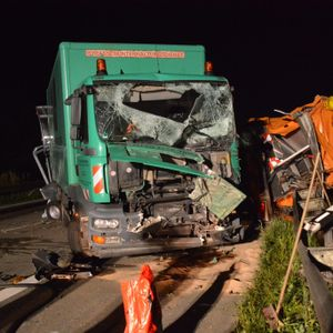 Lkw Unfall auf der A24