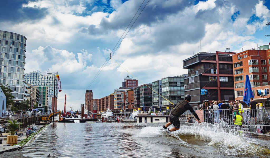 Wakeboard-Event Red Bull HafenCity