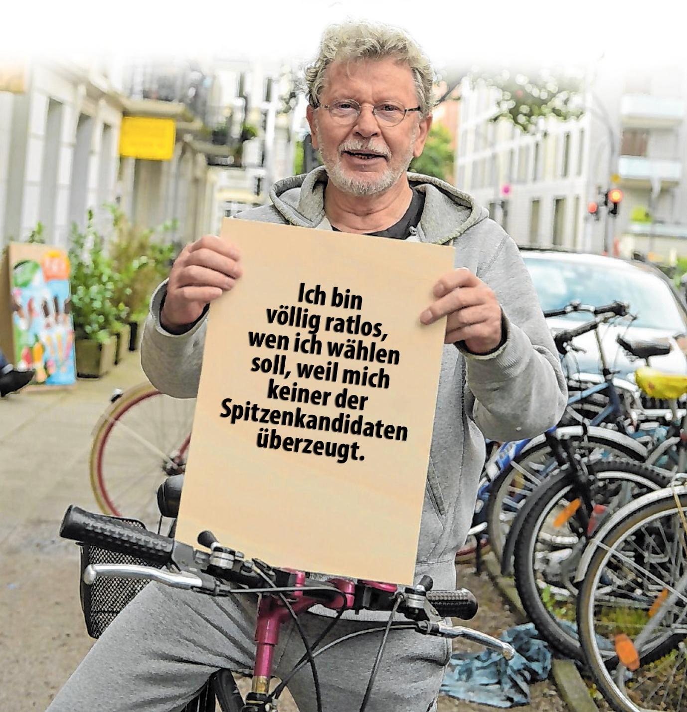 Der 75-jährige Helmut Schott von der Uhlenhorst fährt gerne Fahrrad.