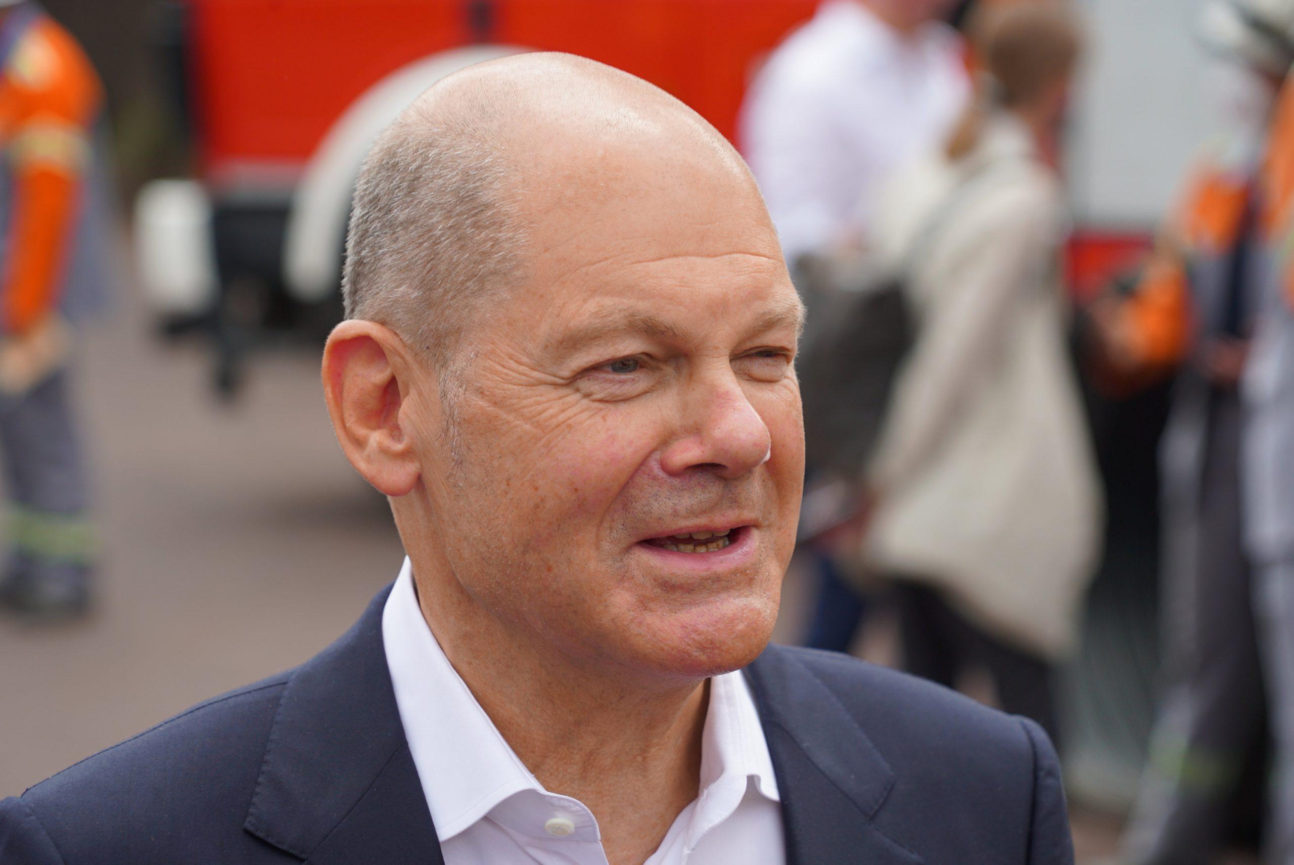 Olaf Scholz am Donnerstag in Hamburg