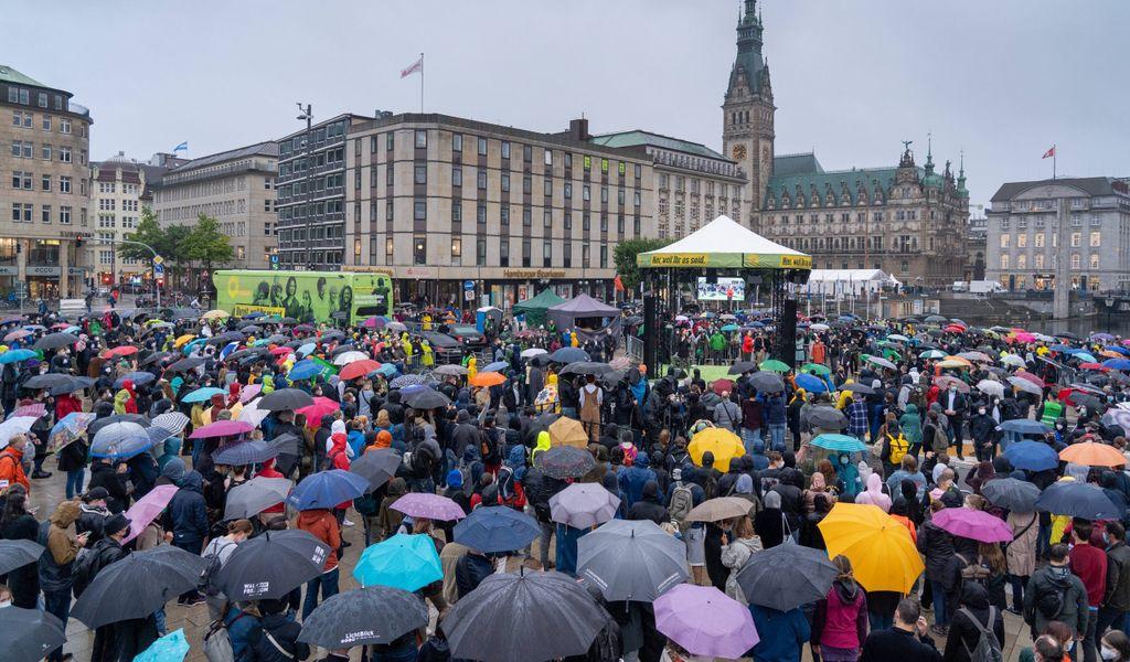 Regenschirm Wetter Hamburg Herbst
