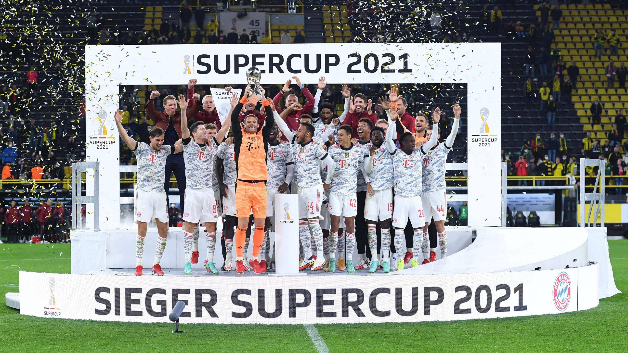 Siegerehrung Supercup