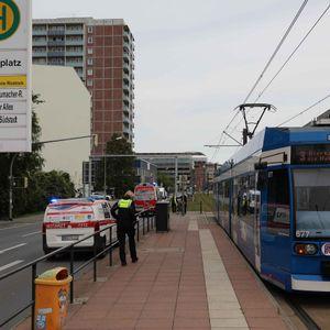Die Unfallstelle in Rostock.