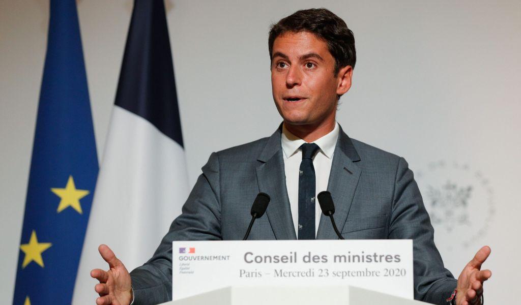 Gabriel Attal, französischer Regierungssprecher