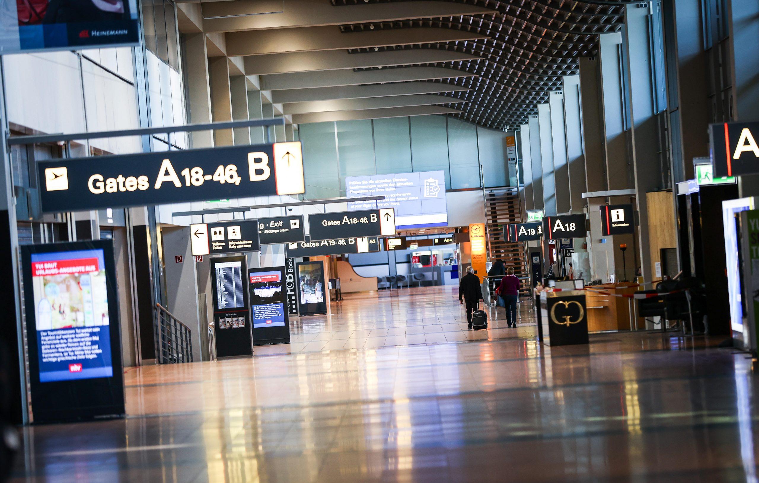 Flughafen Hamburg leer