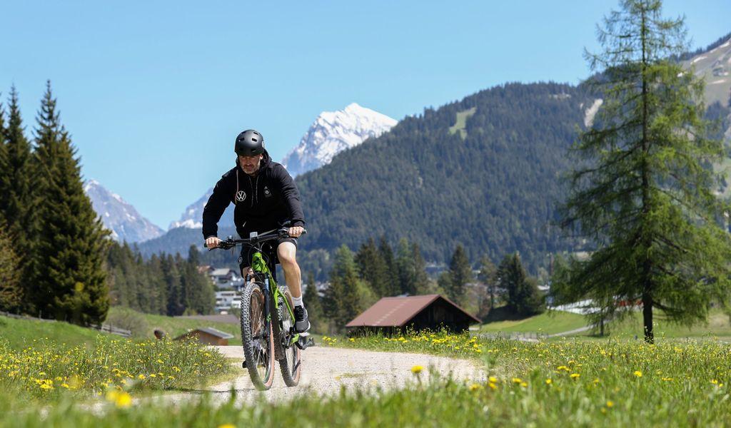 Mountainbike-Fahrer (Symbolbild).