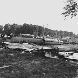A7 Notlandung Trümmer 1971
